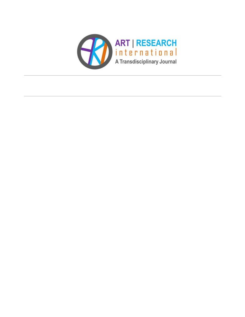 view of bringing the arts to the everyday lived experiences of young children art research international a transdisciplinary journal publishing