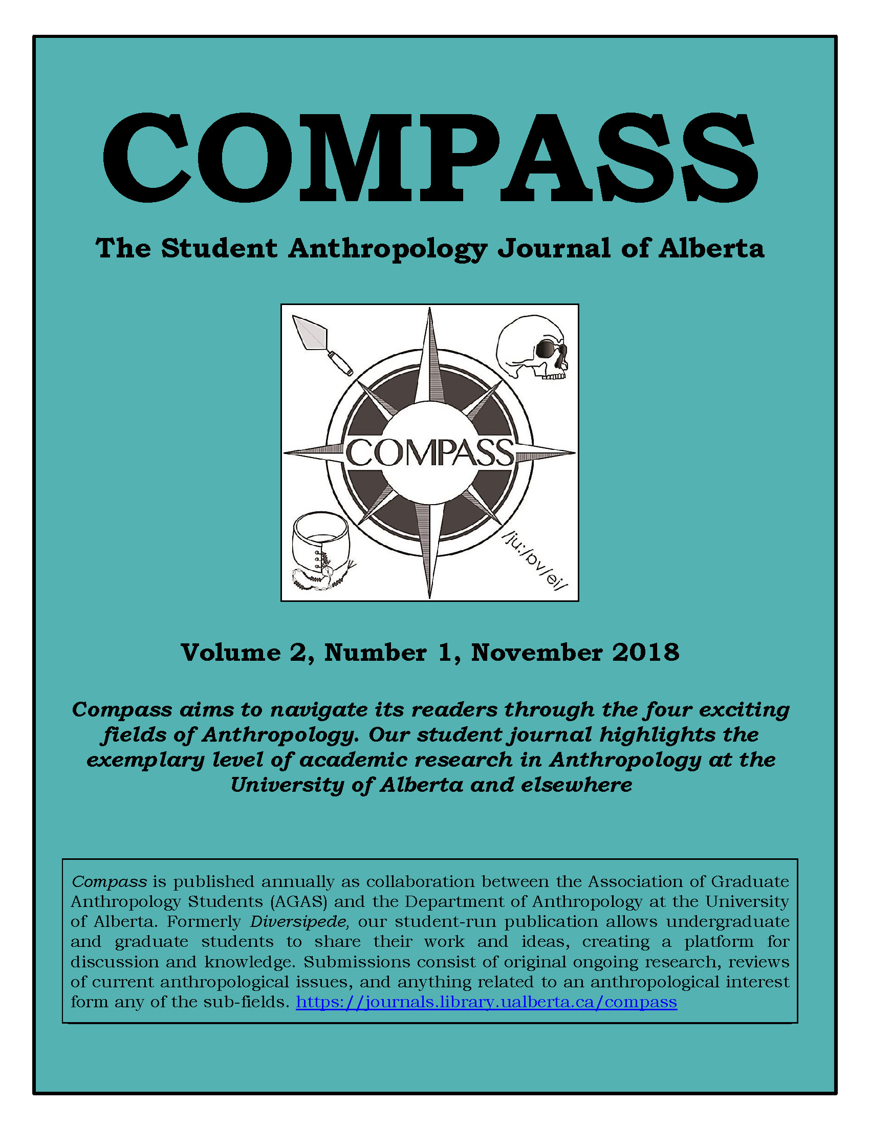 View Vol. 2 No. 1 (2018): COMPASS: The Student Anthropology Journal of Alberta