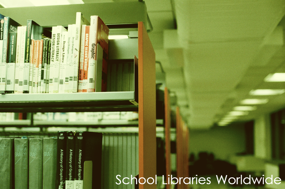 A library book shelf filled with books.